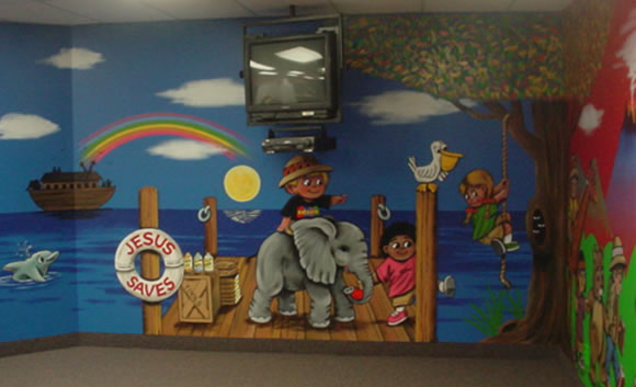 Children church murals image search results for Church mural ideas